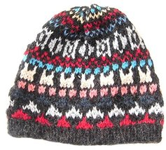 Alpakaandmore Little Boys Alpaca Wool Beanie Hat One Size Black - $22.54