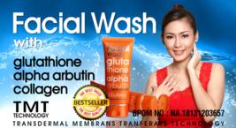Glutera Facial Wash with Glutathione & Alpha Arbutin Collagen Face White... - $25.99
