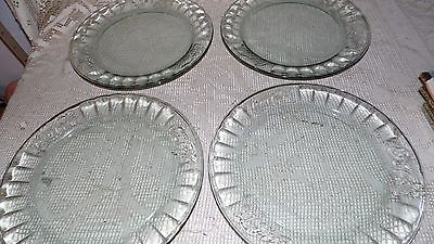 Primary image for LIBBEY COCA COLA GREEN OPTIC GLASS RAISED LETTERING DINNER PLATES SET OF