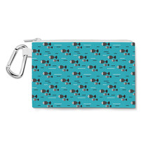 Fish Waves Canvas Zip Pouch - $14.99+
