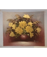 Gracious Gold Florals Painting 10 1/2 X 9 - $50.00