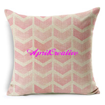 Geometric Linen Blend Fabrics Cover, Throw Pillow Cover,Home Decor Pillow - $16.99