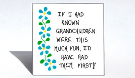 Grandmother Magnet - Quote, Grandma, Oma, Granny, Nana, grandchildren, Blue flow - $3.95