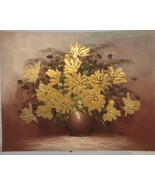 Gracious Gold Florals Painting 16 1/2 X 13 - $50.00