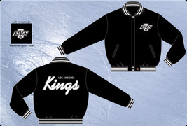 JH Design Los Angeles Kings Adult Wool Jacket KNG 103 VI12 BLK  - $109.95