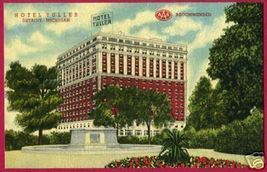 Detroit Michigan Hotel Tuller Aaa Linen Mi - $6.00