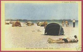 SARASOTA FLORIDA Lido Beach Bathers Linen FL - $6.00
