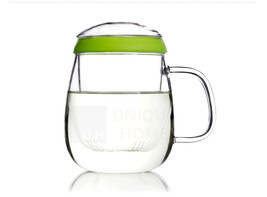 HandMade Gift Clear Glass Infuser Teacup 600ml 20.2oz - Valentine Unihom - $24.50