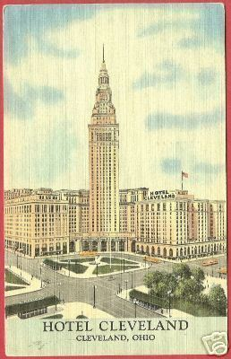 CLEVELAND OHIO Hotel Linen Postcard OH