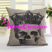 Black and White Sugar Skull Pillow Cover, Throw Pillow Cover, Decor Pill... - $16.99