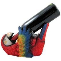 NEW Whimsical Beach Tropical Parrot Wine Bottle Holder - Bird Sculpture - $29.30