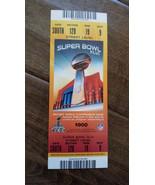 SUPER BOWL XLVI FULL TICKET NEW YORK GIANTS NEW ENGLAND PATRIOTS STREET ... - $199.99