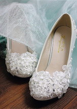 Bridal Shoes,White Wedding,Womens Bridal Shoes,Womens Bridal Heels,Weddi... - £46.66 GBP