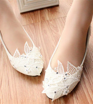 Wedding Shoes,Lace Bridal Shoes,Bridal Shoes,White Wedding,3cm heels - £38.61 GBP