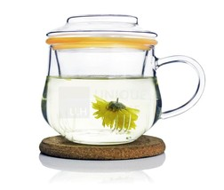 Handmade Glass All in One Infuser Teacup + Silicon Ring 300ml - MoraxPlu... - $17.28+