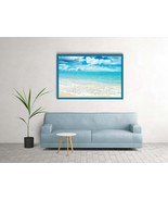 Beach Wall Art, Coastal Prints, Wave Poster, Sea Print, Ocean Printable - $2.20