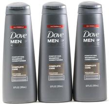 3 Dove Men Care Fortifying Shampoo & Conditioner Complete Care w Caffeine 12 Oz. - $19.99