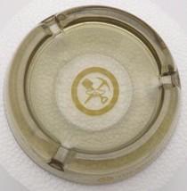 Vintage BANK OF CALIFORNIA Pick Shovel Gold Pan Logo Glass Ashtray - $24.74