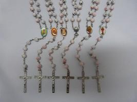 Children Rosary happy face lot of 6 with P.Card/ Rosarios de Niño 6 con ... - $18.00