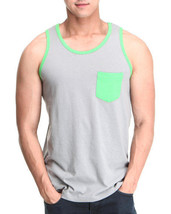 "Massive Pocket Contrast Gray&Green Tank Top ""Medium/X-Large"" - $8.39"