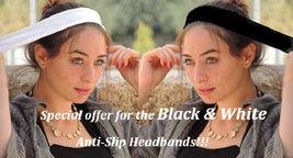 Two Non-Slip No Slip Headbands ,Great for tichel,tichel,head scarves, wigs,cover - $26.00