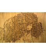 Large Flemish Style Pyrography Wood Burning of nude woman - $200.00