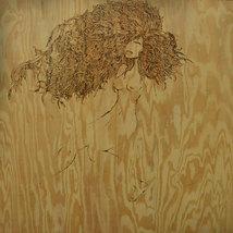Large Flemish Style Pyrography Wood Burning of nude woman image 2