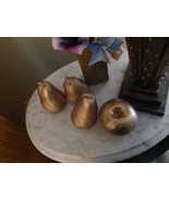Gold Frosted ceramic apple or pear your choice perfect for display OR st... - $25.00