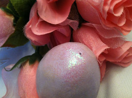 Ceramic Pastel lavender Colored Egg for Easter Display glitter glazed and with  image 4
