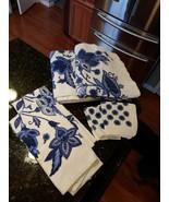 Adrienne Vittadini 6 Piece Bath Shower Towel Washcloth Set - $74.95