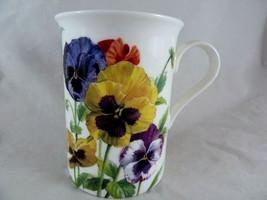 Stechcol Gracie Pansies Bone China Mug Cup - $11.87