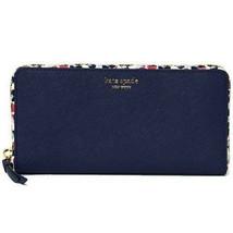Nwt Kate Spade New York Cameron Floral Large Continental Wallet Blue WLRU5407 - $67.32
