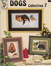 Cross Stitch Dogs Coll. 7 Bloodhound Collie Shepherd Rottweiler Sheepdog... - $12.99