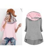 Es women s sweatshirt 2018 new hooded long sleeve solid hoodies irregular short length thumbtall