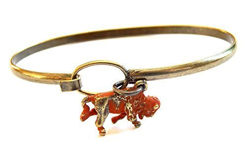 Buffalo Bison Charm Bracelet (Brown)
