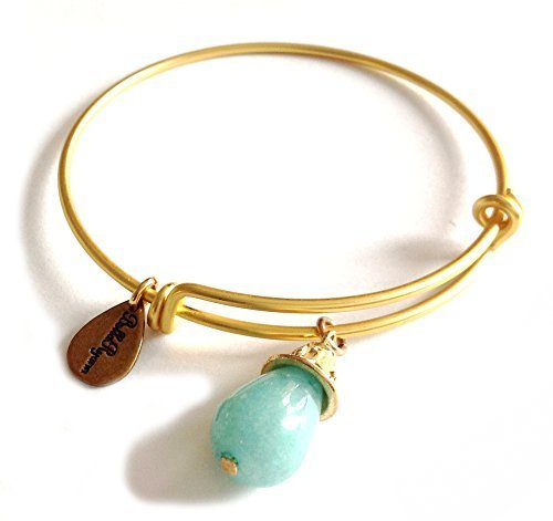 Bella Ryann Gold Plated March Birthstone Bangle Bracelet