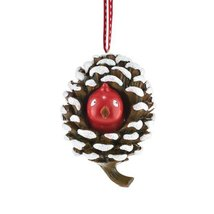 Department 56 Pinecone with Bird Ornament, 3-Inch