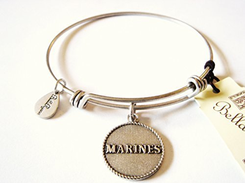 "Authentic Bella Ryann ""Marines"" adjustable wire bangle silver (Same day shipp..."
