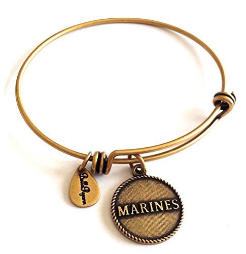 Bella Ryann Marines Gold Charm Bangle Bracelet