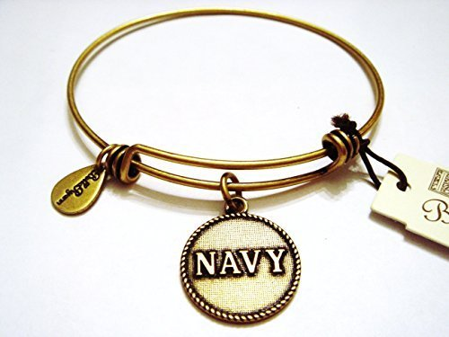 "Authentic Bella Ryann ""Navy"" expandable bangle gold. (Ships same day)"