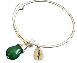 Bella Ryann May Birthstone Silver Charm Bangle Bracelet