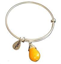 Bella Ryann November Birthstone Silver Charm Bangle Bracelet