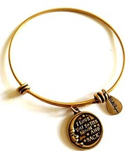 Bella Ryann Love You to the Moon and Back Gold Charm Bangle Bracelet