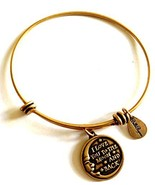 Bella Ryann Love You to the Moon and Back Gold Charm Bangle Bracelet - $13.85