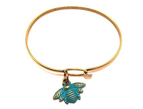 Bee Charm Bracelet in Blue