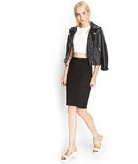 Forever 21 Black Bandage Zippered Knit Pencil Skirt Size Medium BNWT - $8.00