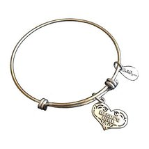 Bella Ryann Daddy's Girl Heart New Silver Charm Bangle Bracelet