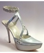 Snow Queen Silvery Platform Sparkles Snowflakes... - $129.99