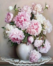 16x20'' Unframed Peony Flower DIY Paint By Number Kits On Canvas (Roll n... - $8.99