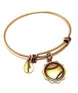 Bella Ryann Gold Baseball Charm Bangle Bracelet - $13.85
